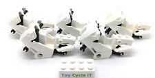 LEGO 5 x White Police Motor Bike Body Spare Bricks - City - Good Condition - L12