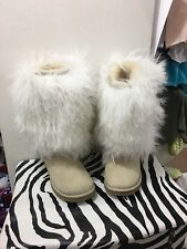 uggs size 6 womens Tall Sheepskin Mongolian Very Hard To Find Rare!!