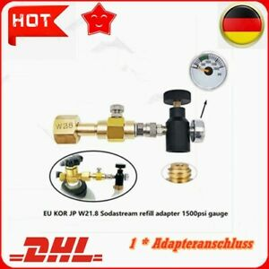 DE-Für Sodastream Karbonator Zylinder Tank Nachfülladapter Stecker Tankstelle