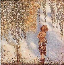 Maiden in Tree Troll's Son John Bauer Fairy Tale Postcard Sweden