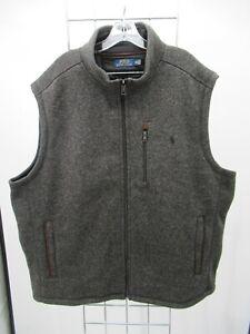 H2556 Polo Ralph Lauren Men's Fleece Lined Sleeveless Knit Vest Size 3XL