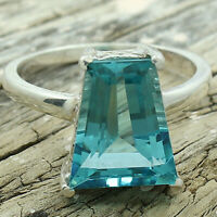 Aquamarine 925 Sterling Silver Ring Jewelry DRR1076_E