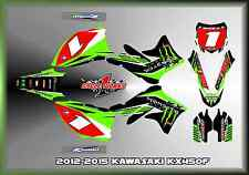 12-15 KAWASAKI KX450 KX 450F CUSTOM MUDFLAPS GRAPHIC KITS DECAL