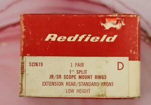 """Redfield 1"""" Split Low Extension Rear/Front JR/SR Scope Mount Rings D"""