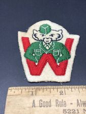 Rare Old Early Team Logo Wisconsin Badgers 3� Patch Football University Bucky