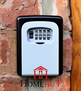 KEY SAFE OUTDOOR LOCKABLE SECURITY WALL MOUNT HOLDER LOCK WEATHER RESISTANT