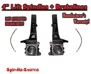 """4"""" Lift Spindles Brakelines fits 2005 - 2021 Toyota Tacoma 6 Lug, Pre-runner 2WD"""