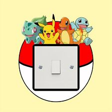 Pokemon light switch sticker  - Wall Art Decal Stickers Quality vinyl New