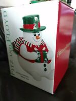 New In Box! Fitz and Floyd Holiday Snowman Lidded Box Christmas NIB