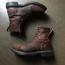 """Men's Vintage Red Wings USA Leather Steal Toe Brown 4451 8"""" Work Boots Sz 9.5 D"""