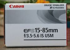 Canon EF-S 15-85mm f/3.5-5.6 IS USM Lens in Box