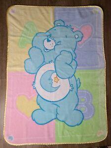 Rare Care Bears Soft Plush Bedtime Bear Baby Blanket Throw 31x42