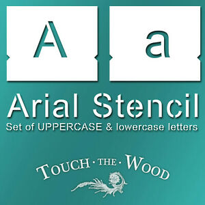 ARIAL Stencil Font: lowercase and UPPERCASE Lettering Alphabet Typography #099