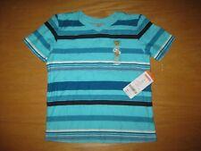 NWT Gymboree Blue Safari Boy size 2T Blue Striped Top Shirt