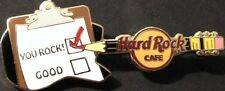 "Hard Rock Cafe 2008 Pencil GUITAR Clipboard ""You Rock"" GUEST PROMO PIN HRC 44889"