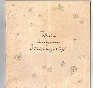 Mein Stuttgart Reisetagebuch Fritz Busse Theo Auer 1930er Fremdenverkehr ! (H8