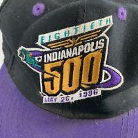 Indianapolis Indy 500 Eightieth May 26, 1996 Purple Black Adjustable Hat