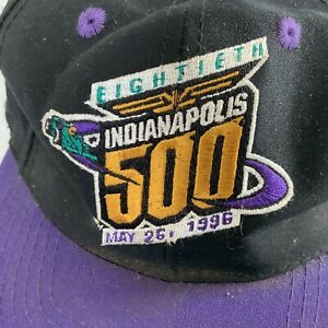 Indianapolis Indy 500 Eightieth May 26, 1996 Purple Black Adjustable Hat