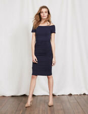BODEN New Off Shoulder Ruched Dress - Navy - UK 18 R