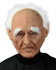 Creepy Old Man Adult Mask With Hair