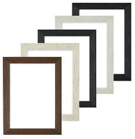 Driftwood effect Flat Picture Frame Photo Frame Poster Frames Black A4 A3  UK