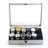 Watch Box 12 Grid Aluminium Watch Jewelry Storatge Box Wrist Watch Display Case