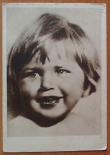 1930s SOVIET photo POSTCARD Head of a girl VERY RARE! ch 518b