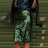 New Fashion Celeb Women Elegant Sequin Party Evening Clubwear Pencil Skirt Dress