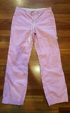 Gap pink cargo pants Junior's size 0 drawstirng waist reinforced knees VGUC
