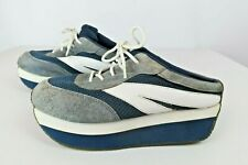 VTG 90s Soda Gray Blue Platform Original Retro Sneaker Shoes Mules Spice Girls 8