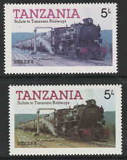 Tanzania (08) 1985 Locomotives 5s YELLOW OMITTED plus normal mnh Trains Railways