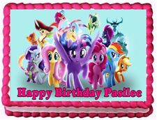 MY LITTLE PONY MOVIE EDIBLE frosting sheet CAKE TOPPER BIRTHDAY DECORATIONS