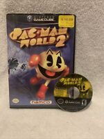 Pac-Man Pacman World 2 Nintendo Gamecube Black Label Disc and Box only, Tested!