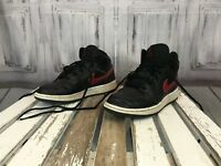 Nike Air Jordan Black Red White  Boys Shoes Casual Sneaker Sport Size 4.5 Kids