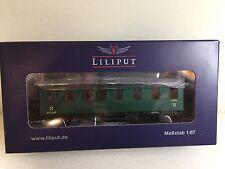 Liliput L334004 Belge Passager Wagon 3ème Classe Epoche II Vert H0 T48 Post