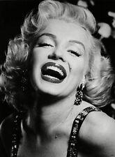 "Marilyn Monroe Smile B&W CANVAS ART PRINT --  16""X 12"""