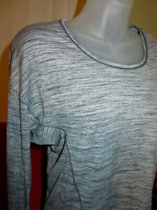 Perfect LULULEMON Sweat Embrace Long Sleeve Shirt Space Dye Camo Seal Grey-Sz 6