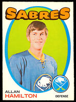 1971 72 OPC O PEE CHEE HOCKEY #49 ALLAN HAMILTON NM BUFFALO SABRES CARD