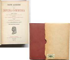 Dante Alighieri LA DIVINA COMMEDIA (Hardcover, 1938) HOEPLI Vandelli ITALIAN