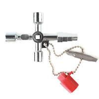 Versatile Cross Plumbing Key Tool Water Meter Boxes Gas Tap Radiator Bleeding
