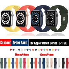 38/42/40/44mm силиконовые спортивные ремешок iWatch ремень для Apple часы серии 6, 5, 4, 3 Se