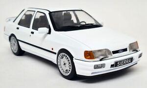 MCG 1/18 Scale - Ford Sierra RS Sapphire Cosworth White + OZ Diecast model car