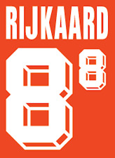 HOLLAND RIJKAARD NAMESET 1992 SHIRT CALCIO Numero Lettera di calore stampa football H