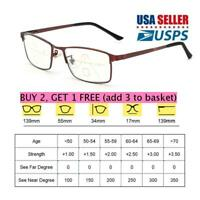 Anti Blue Light Reading Glasses Progressive Multifocal Presbyopia Eyeglasses New