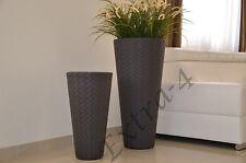 Haute Qualité Tall matuba Slim rotin pot pot de fleurs jardiniere 55 cm moderne