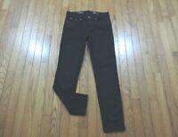 "J Crew Toothpick Ankle Skinny Jeans Women's Size 26 X 27"" Black Wash EUC"