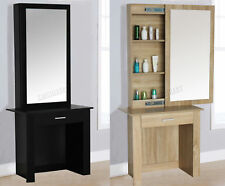 FoxHunter Wooden Makeup Jewelry Dressing Table With Sliding Mirror Drawer DT04