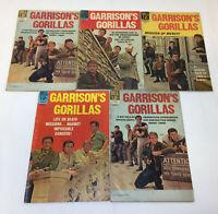 1968 GARRISON'S GORILLAS tv show comics #1 2 3 4 5 ~ FULL SET 1-5