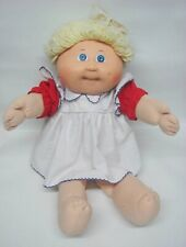 Vintage Cabbage Patch Girl w/ Dimple /Yellow Hair Blue Eyes / Original CPK Dress