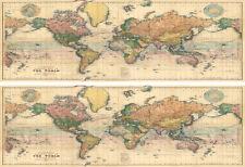 Vintage Map of the World Edible ICING Sheet Ribbon Border x 2